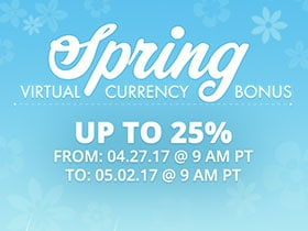 Spring Currency Bonus!