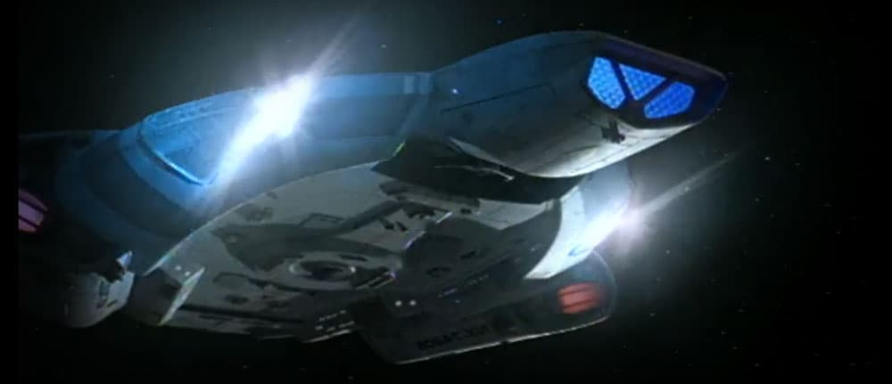Other items were moved, such as the Quantum Torpedo launchers. They're shown in the Nav Deflector in the MSD, but in the show we saw them firing from either ...