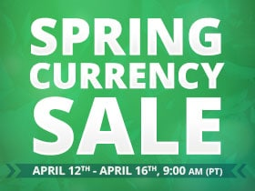 2018 Spring Currency Sale