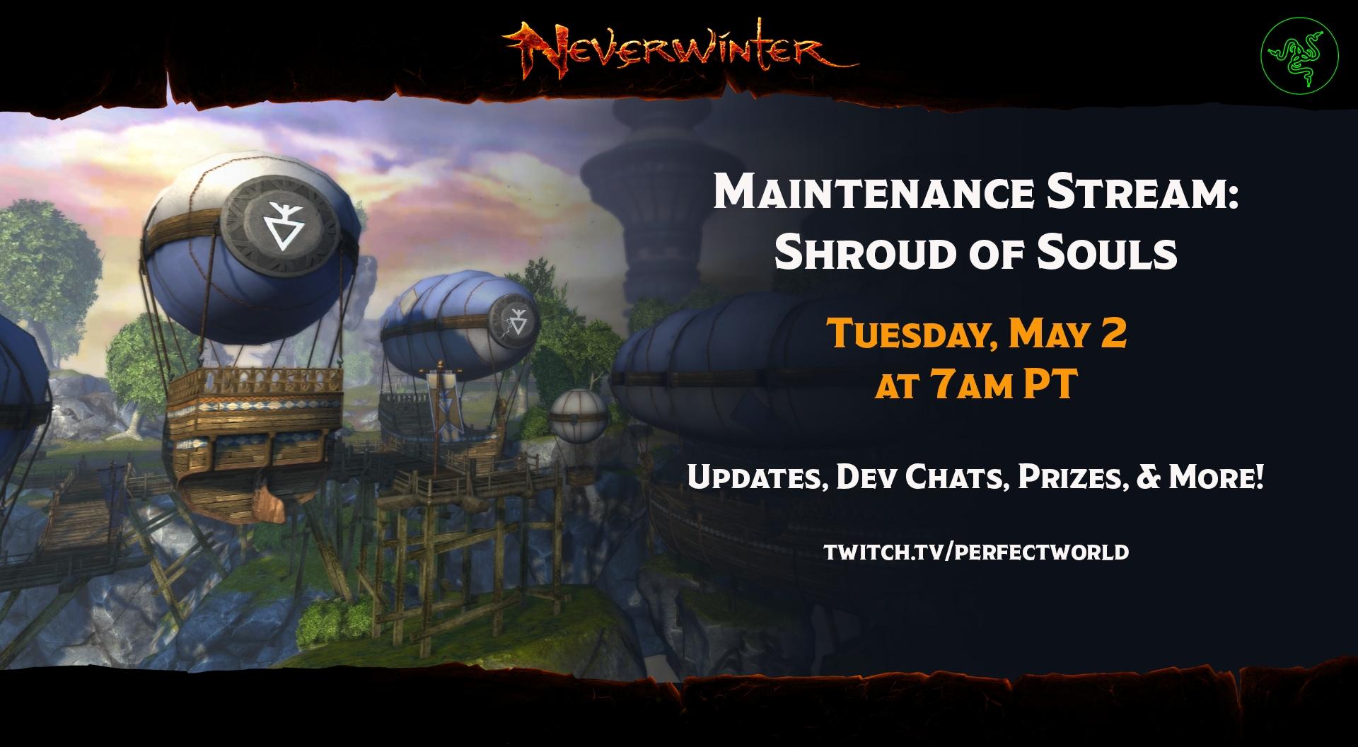 Maintenance Stream: May 2 | Neverwinter
