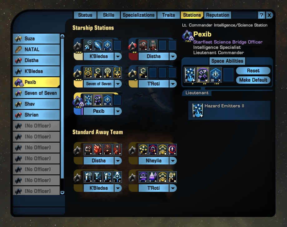 Star Trek Online Officer Slots