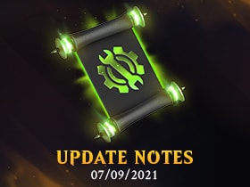 July 09, 2021 - UPDATE NOTES