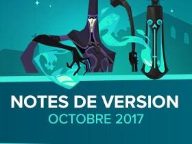 Notes de version, octobre 2017