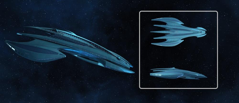 The Caitian-built Aspero Carrier from Star Trek Online