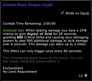 Greater Black Dragon Glyph