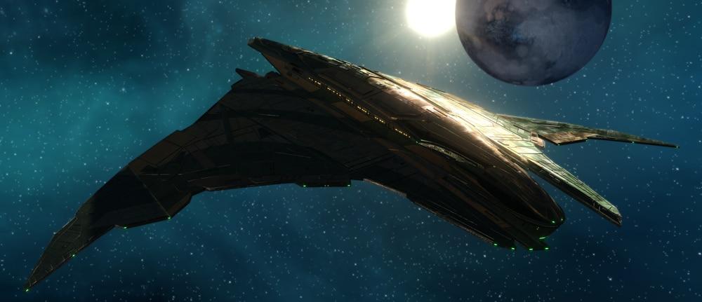 Star Trek Online ship, the Dhailkhina Command Strike Wing Warbird