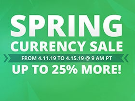 2019 Spring Currency Sale