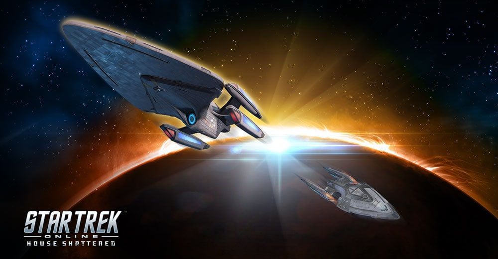 The update Prometheus skin from Star Trek Online