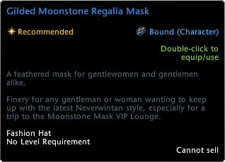 Guilded Moonstone Regalia Mask Tooltip