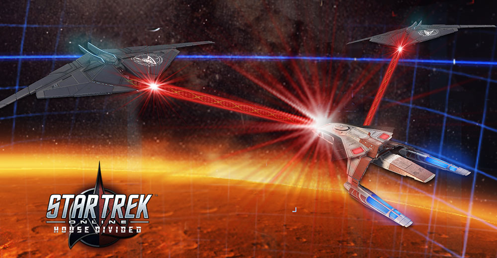 Star Trek Online House Divide Synth Wave promo art