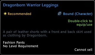Dragonborn Warrior Leggins